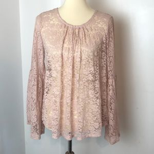 Mossimo Supply Co Blush Pink Lace Top M